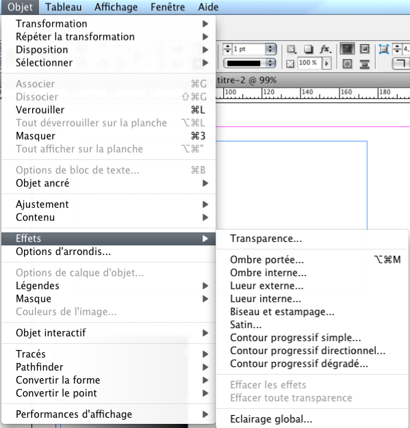 Définir affiche indesign