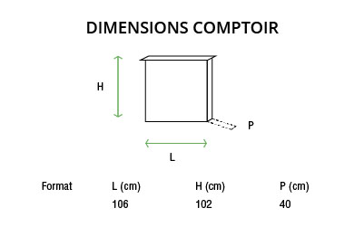 Comptoir tissu pliable
