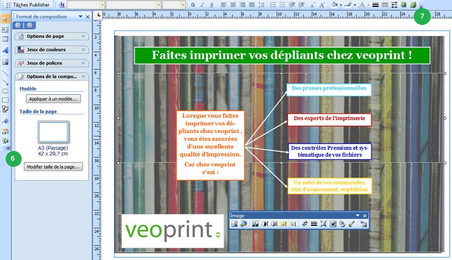 Définir dépliant publisher 2007