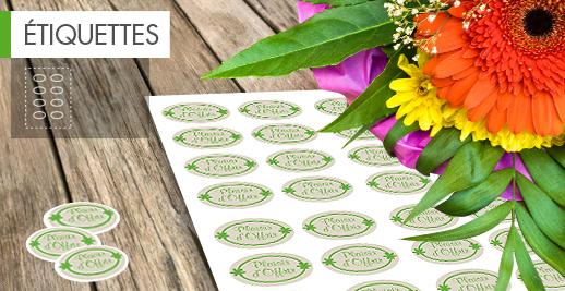 Extrêmement Etiquettes personnalisées : imprimez au meilleur prix avec Veoprint SJ51