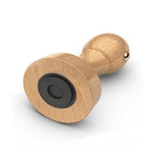 Tampon encreur rond bois