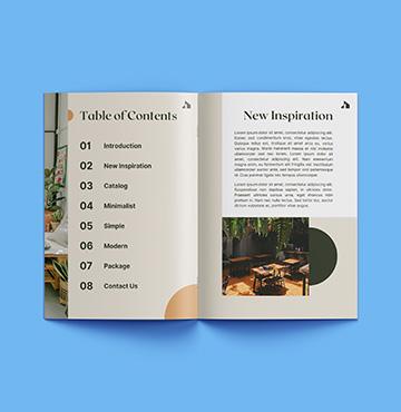 Impression brochures piquées