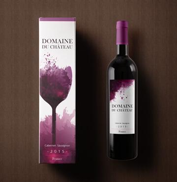 Impression étiquette de vin
