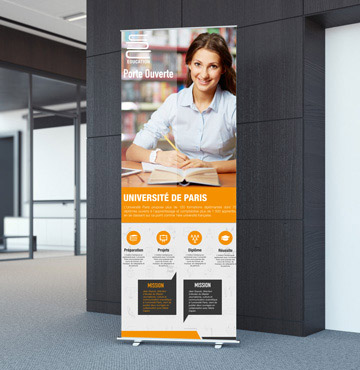 Impression roll-up pour forum : veoprint, impression en ligne