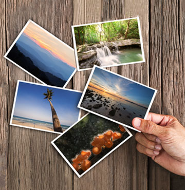 Impression cartes postales offset
